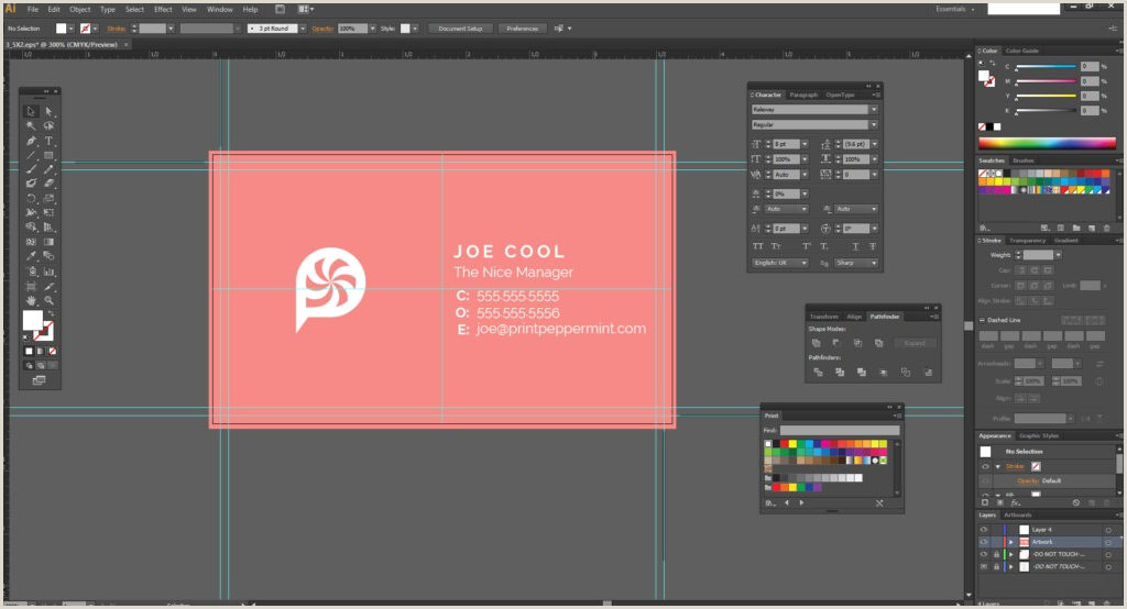 Design Business Card In Illustrator How To Design A Business Card In Adobe Illustrator