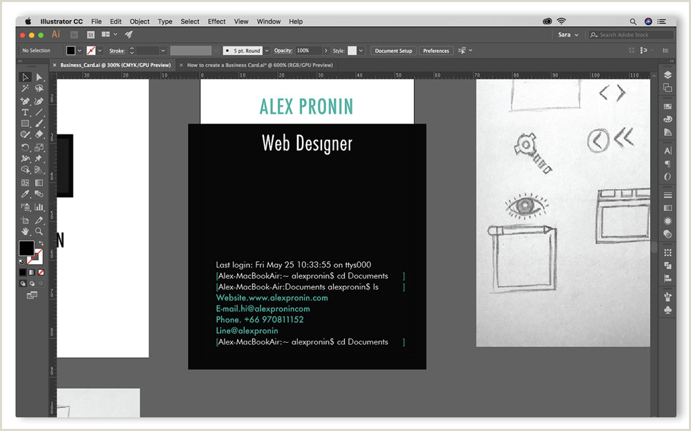 Design Business Card In Illustrator Step By Step Guide On How To Create A Business Card In Adobe