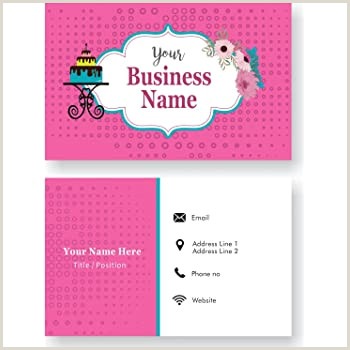 Design My Own Buisness Cards Design Your Own Personalized Business Card Custom Bakery Visiting Card Front And Back 110 Lbs Thick Paper