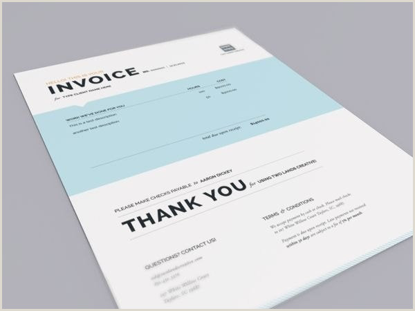 Design My Own Buisness Cards Invoice Design 50 Examples To Inspire You
