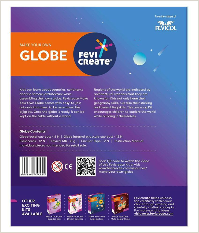 Design Your Own Business Card Pidilite Fevicreate Make Your Own Globe Earth Science Project Kit For Students