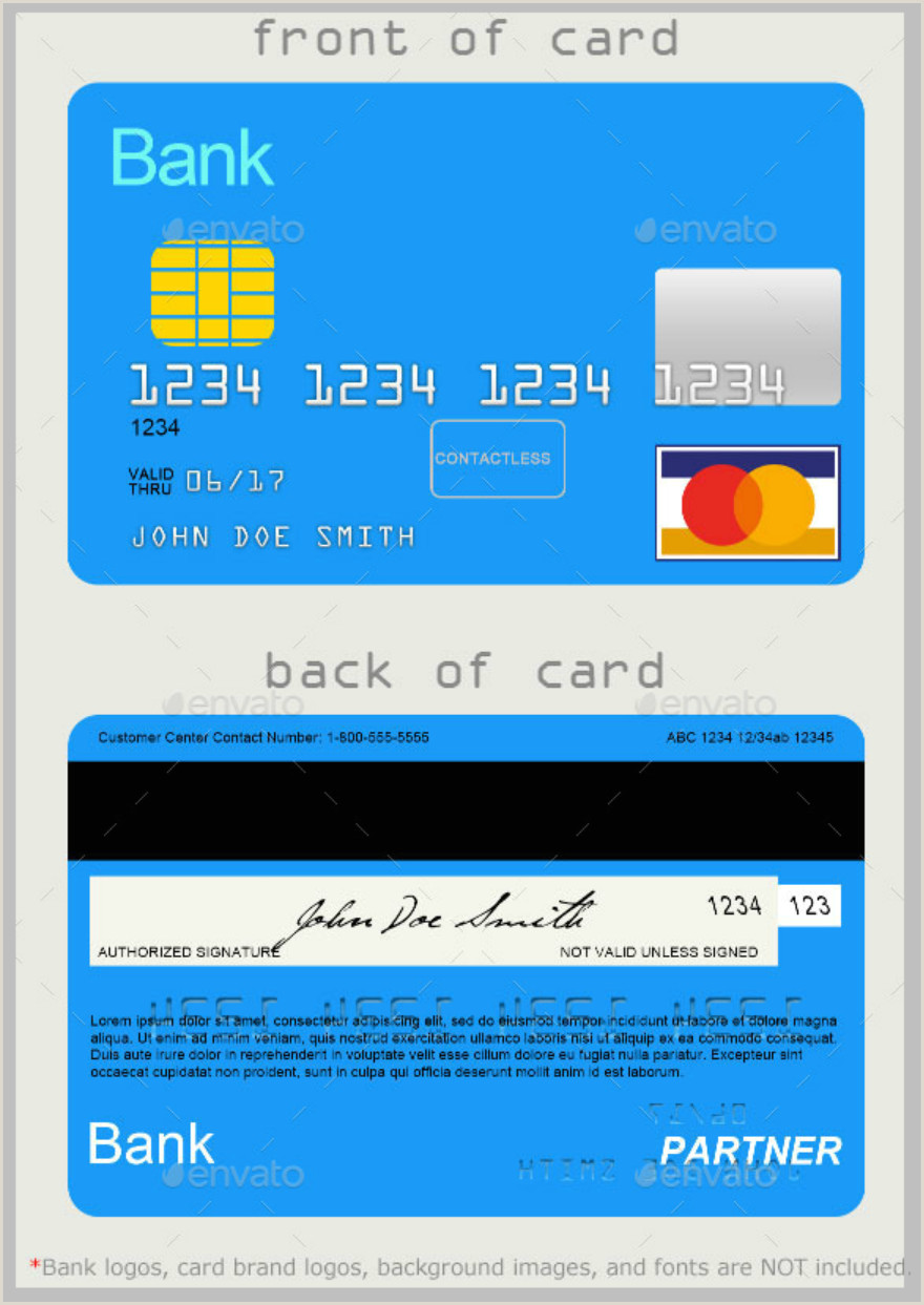 Design Your Own Credit Card Template 10 Credit Card Designs