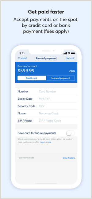 Design Your Own Credit Card Template Wave Invoicing On The App Store