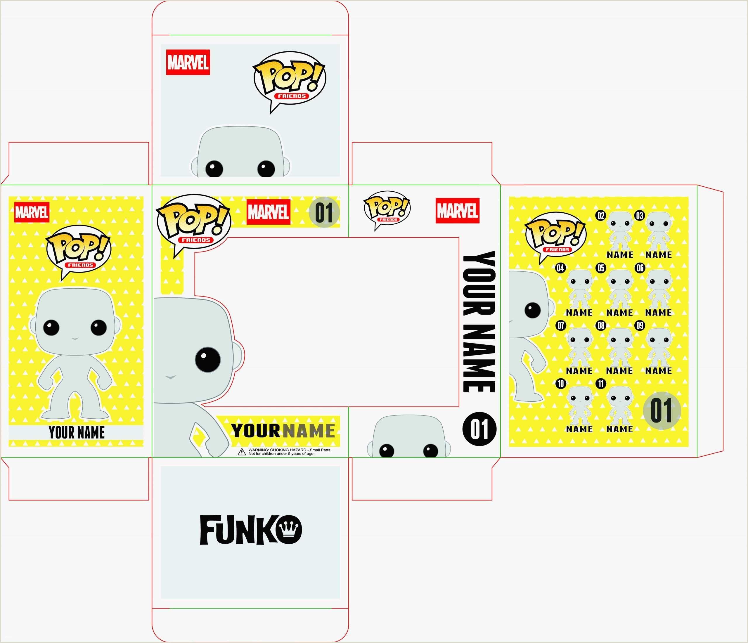 Design Your Own Pop 14 Phenomenal Funko Pop Box Template For 2020 In 2020