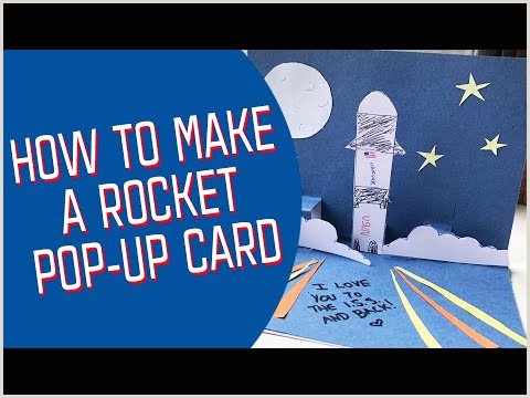 Design Your Own Pop How To Make A Rocket Pop Up Card