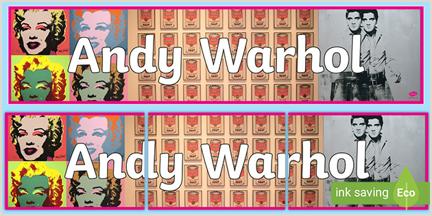 Design Your Own Pop Up Banner Free Andy Warhol Display Banner Teacher Made