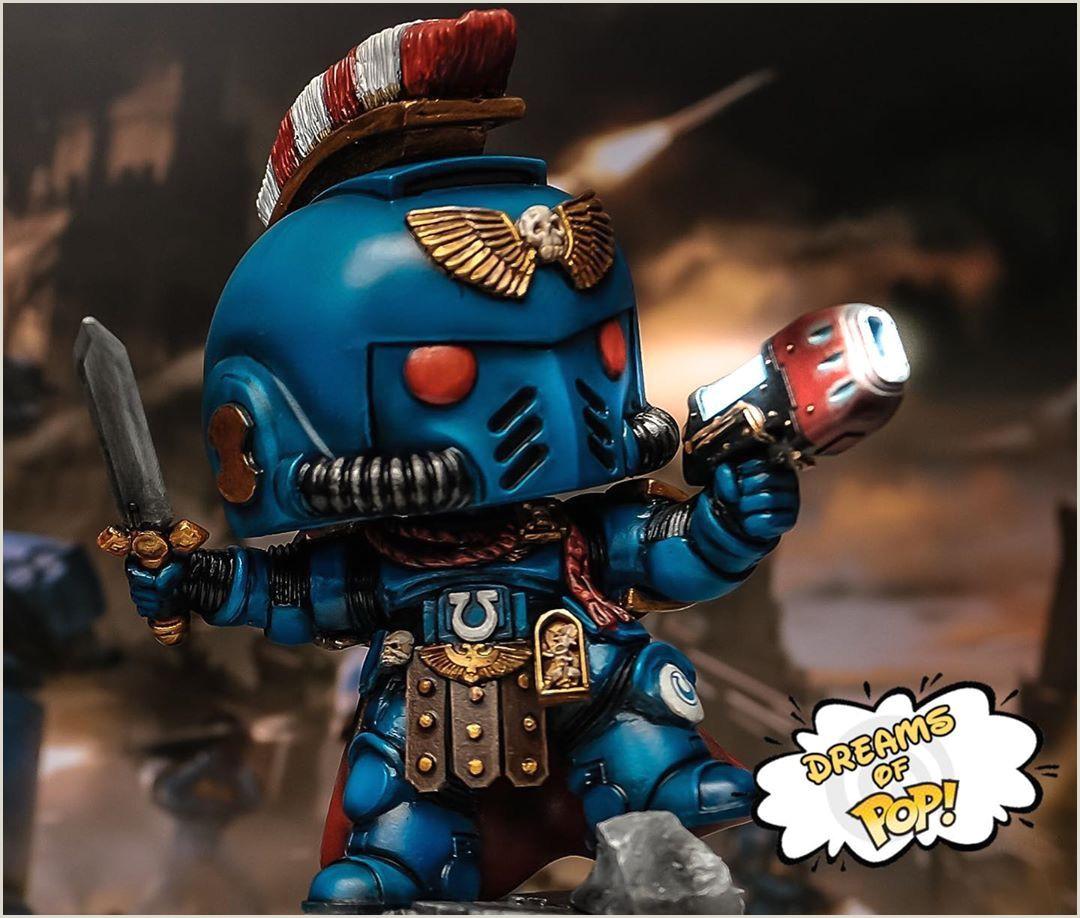 Design Your Own Pop Warhammer Custom Funko Pop Captain Marvinus By Dreamsofpop
