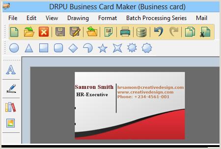 Designing Business Card Business Cards Designer Software Professional Visiting