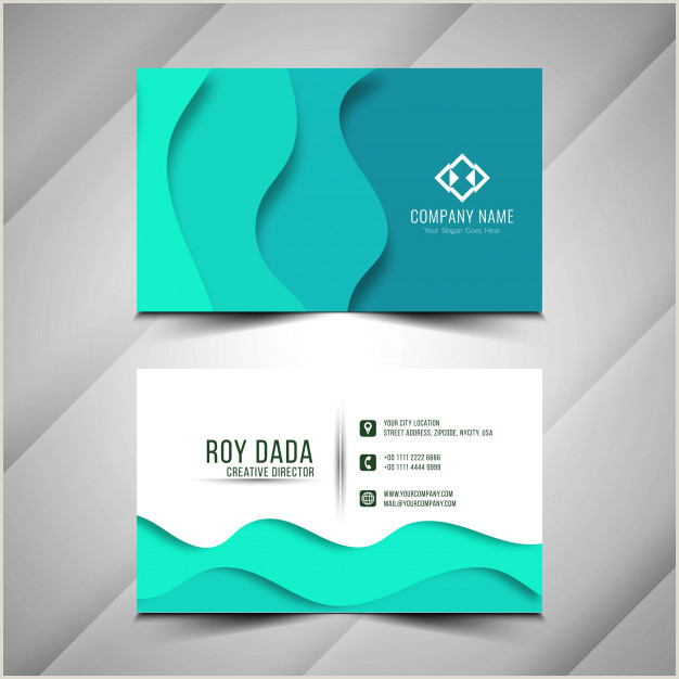Die Cut Business Card Templates Free Vector