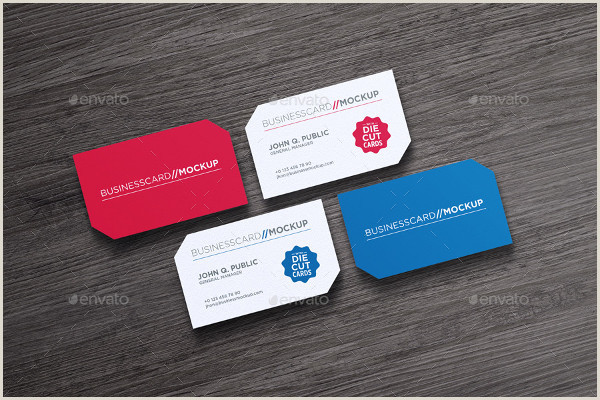 Die Cut Business Cards Templates Die Cut Business Card Templates 21 Free & Premium Download