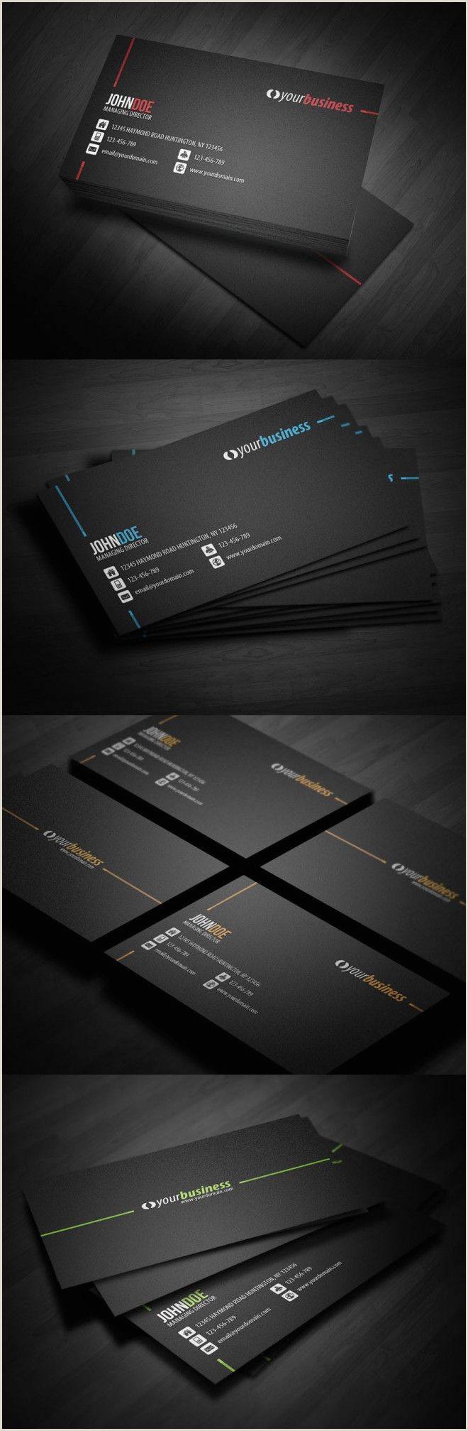 Different Types Of Business Cards 50 Creative Corporate Business Card Design Examples Design
