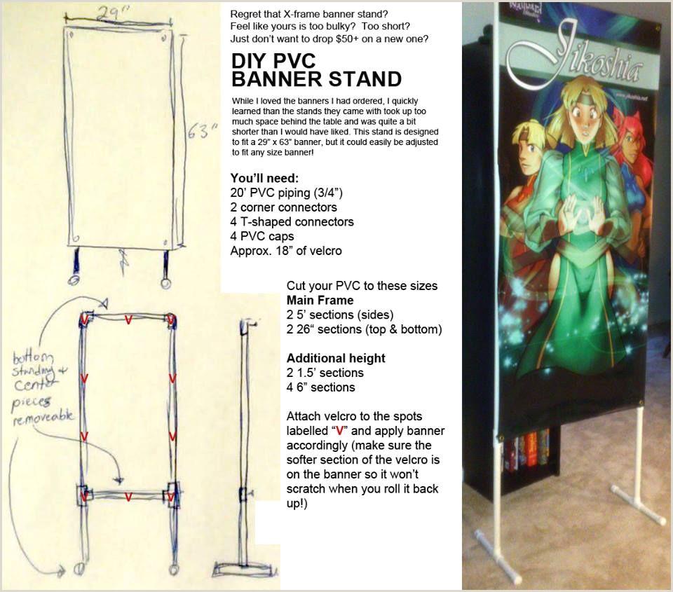 Diy Banner Stand Banner Stand Diy