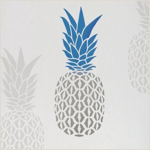 Diy Banner Stand Pineapple Wall Stencil Medium Better Than Decals Diy Wall Art