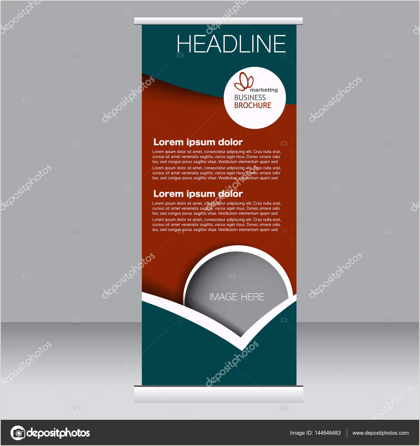 Diy Banner Stand Roll Up Banner Stand Template — Stock Vector © Milana88