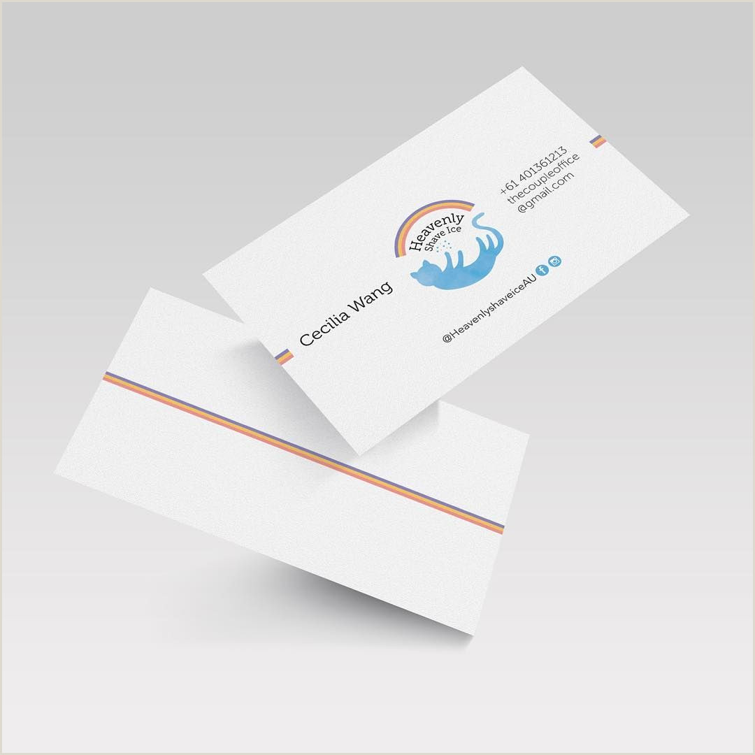 Do Business Cards Work Heavenly Shave Ice Business Card Design Freelance Work