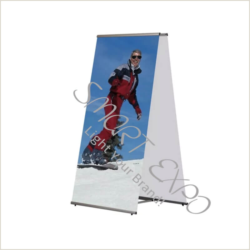 Double Sided Banner Stand Banner Posters Line Shopping
