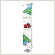 Double Sided Banner Stand Personalized Classic Banner Stand Black With Travel Base