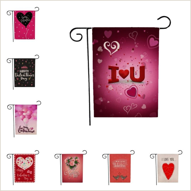Double Sided Pop Up Banner 2020 Free Dhl 2020 Garden Banner Double Sided Valentine Burlap House Flags Love Hearts Flags 12×18 Inch Valentines Day Decorations For Home B25f From