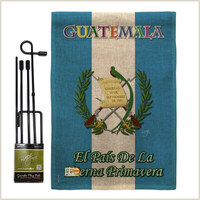 Double Sided Pop Up Banner Breeze Decor Gs Db Guatemala Burlap Flags The World