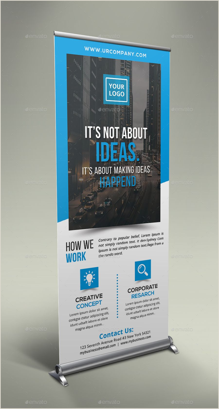 Double Sided Retractable Banner Stand Corporate Roll Up Banner Bundle Roll Corporate Bundle
