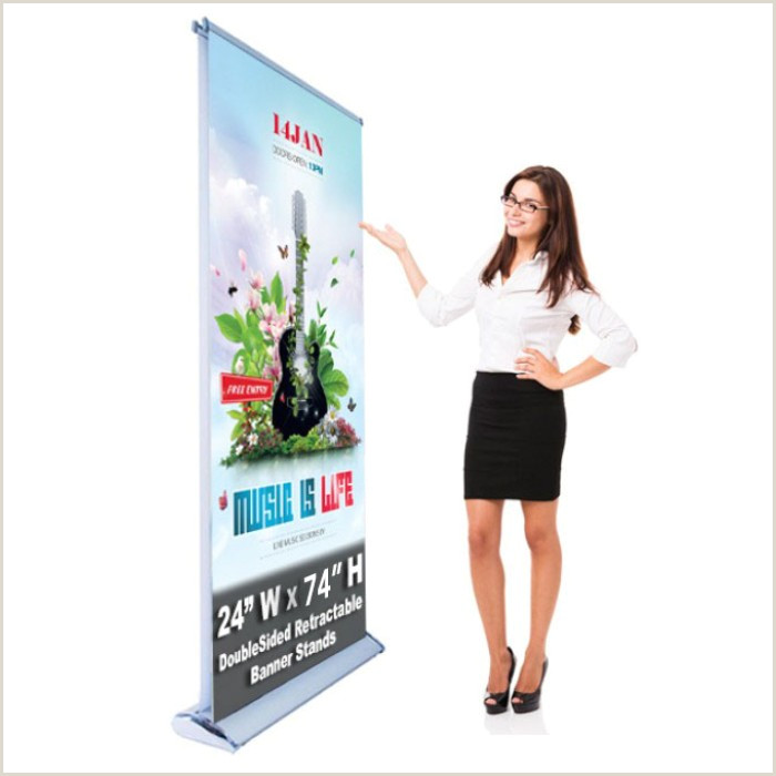 Double Sided Retractable Banner Stand Double Sided 24 X 74 Retractable Roll Up Banner Stand