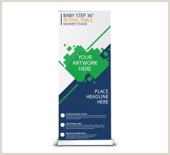 Double Sided Retractable Banner Stand Solution For Business Double Sided Retractable