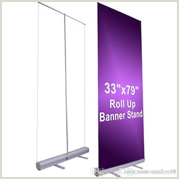 Double Sided Retractable Banner Stand Up Banner Line Shopping