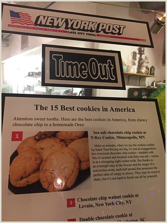 Double T Signs Huge Cookies Picture Of T Rex Cookie Minneapolis