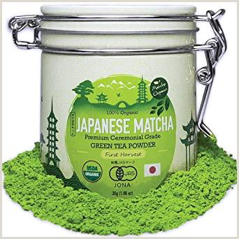 Earthy Business Names Premium Japanese Matcha Green Tea Powder 1st Harvest Ceremonial Highest Grade Usda & Jas Organic From Japan 30g Tin [1 06oz] Perfect For