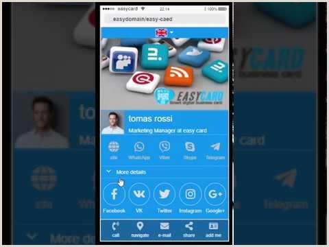 Easy Business Cards Online Digital Business Card In 5 Minutes Line Digital Business