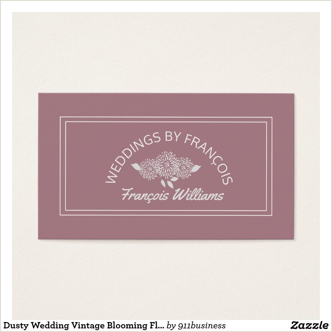 Easy Business Cards Online Dusty Rose Floral Business Card Template With Round Text