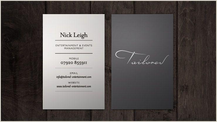 Event Planner Business Card Ideas Elegant Business Cards