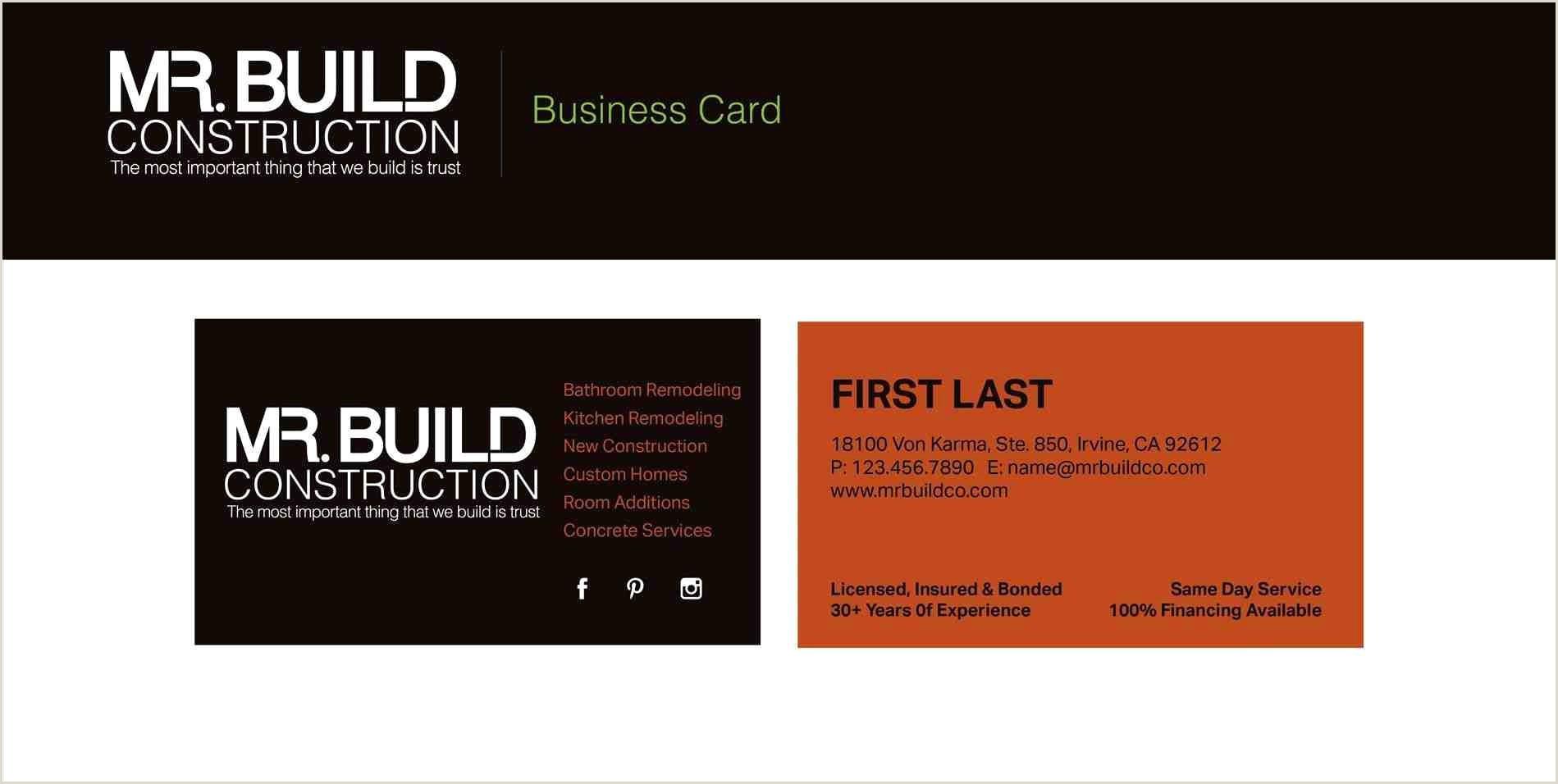 Example Business Card 14 Popular Hardwood Flooring Business Card Template