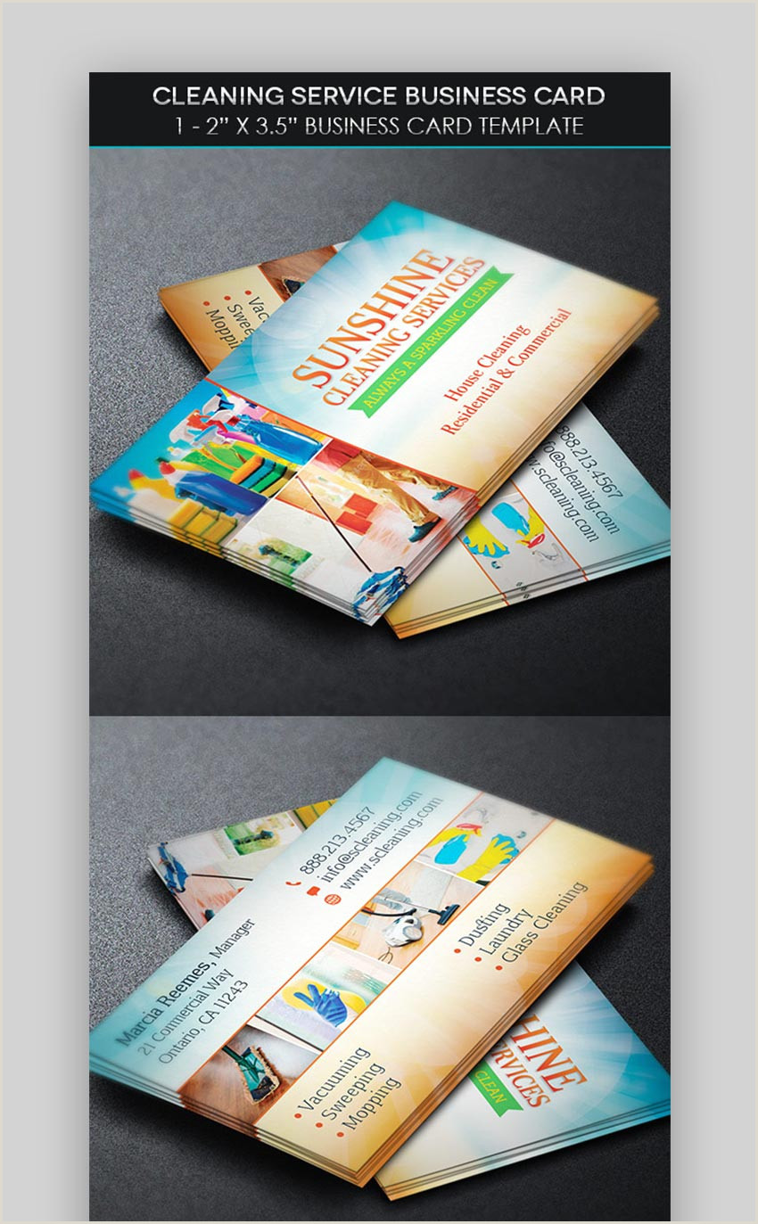 Examples Of Cleaning Business Cards 20 Best Cleaning Services Business Card Templates Designs