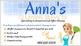Examples Of Cleaning Business Cards 440 Cleaning Service Business Card Customizable Design