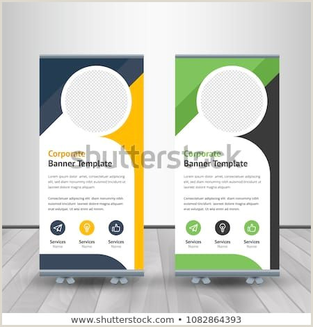 Exhibition Banner Stands Banner Roll Up Design Business Concept Graphic Template