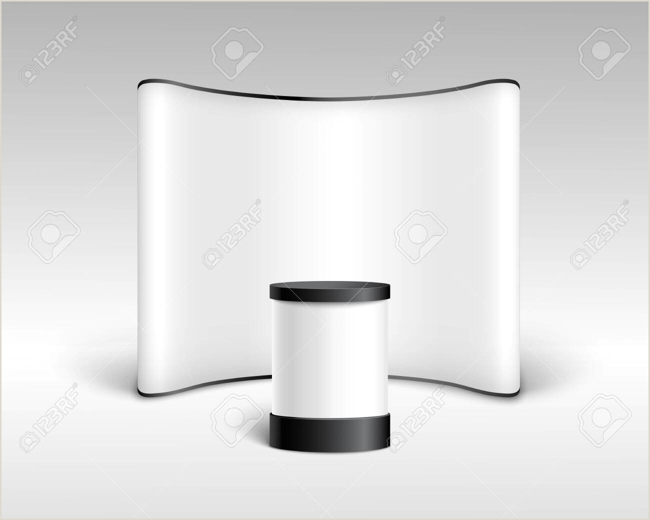 Exhibition Banner Stands Exhibition Display Stand Backdrop Or Pop Up Basic Unit For Trade
