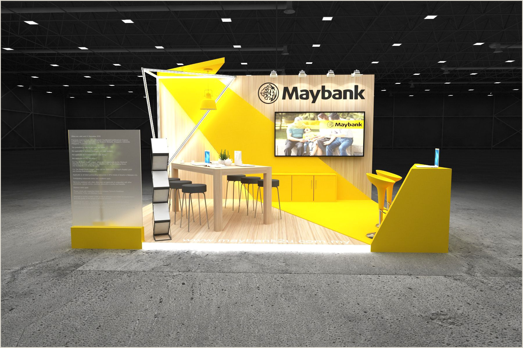 Exhibition Banner Stands Exhibition Stands 2019 Maybank 5×4 On Behance