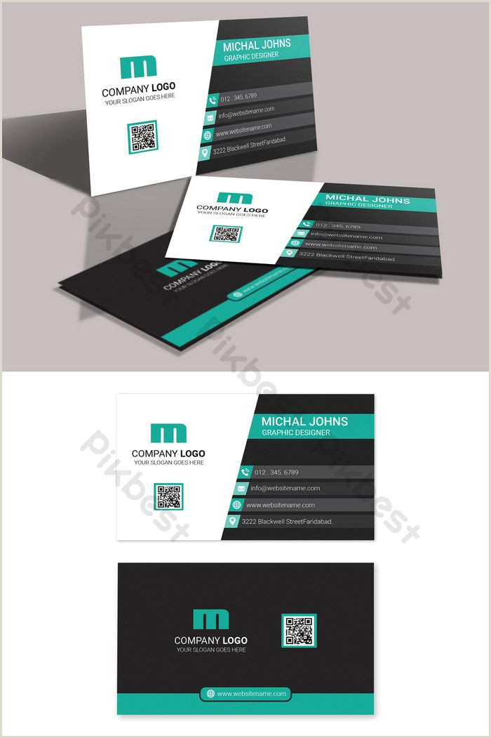 Fashion Business Cards Templates Free Business Card Design In Contrast Of Black And White With