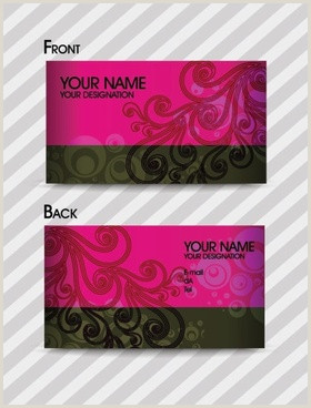 Fashion Business Cards Templates Free Fashion Design Business Cards Free Vector 28 892
