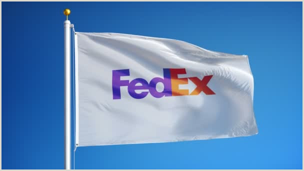 Fedex Office Retractable Banner Fedex Pany Flag In Slow Motion Editorial Animation