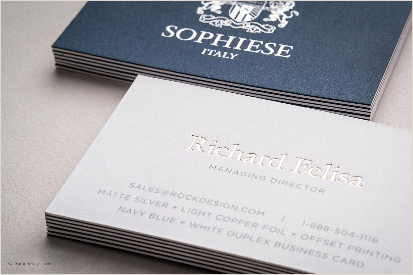 First Class Color Business Cards Fancy Custom Navy Blue And White Duplex Business Card With
