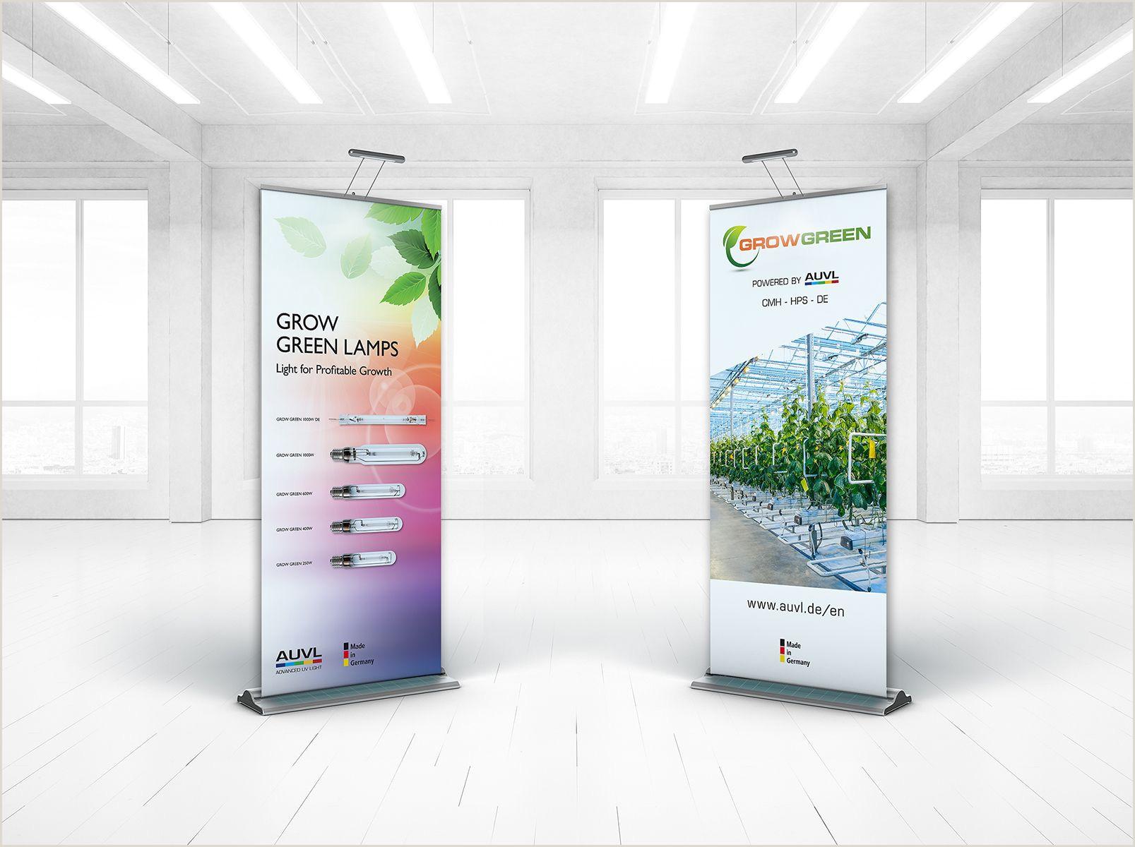 Floor Banner Stands Grow Lamp Banner Stands