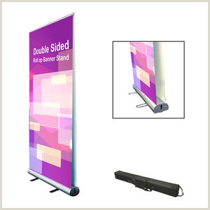 Floor Banner Stands Moving Retractable Vertical Roll Up Banner Stand Guangzhou