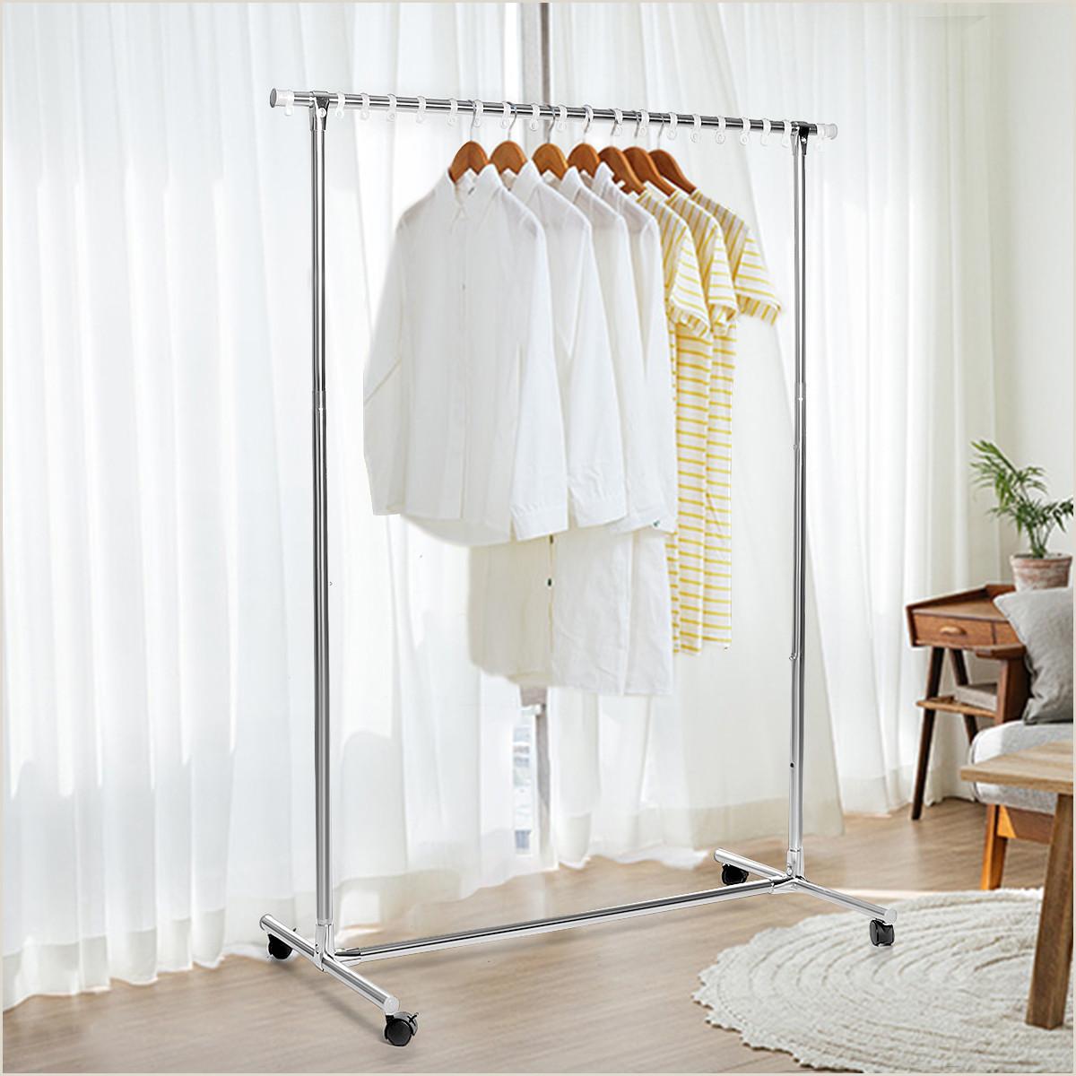 Floor Banners Retractable Clothes Rail Rack Garment Dress Hanging Display Stand Shoe Rack Storage