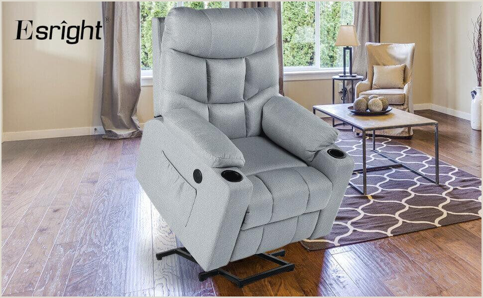Floor Banners Retractable Power Lift Chair Electric Recliner For Elderly Heated