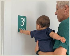 Floor Signs Stands Floor Number Signs Braille Engraved Glow In Dark Stair Signs
