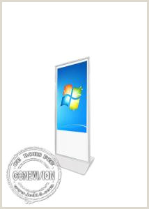 Floor Standing Banners Android Infrared 65 Touch Screen Monitor Standee Slim