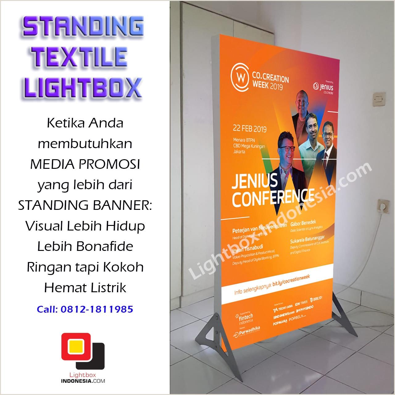 Floor Standing Banners Standing Lightbox Indonesia