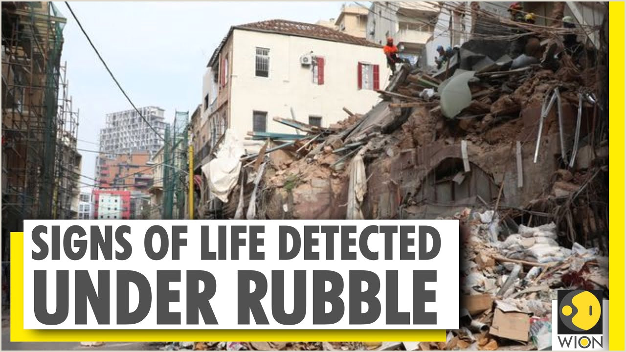 Fold Out Signs Beirut Blast Rescue Workers Trace Signs Of Life Under Debris Wion News